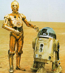 C-3P0 and R2-D2 in Star Wars