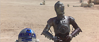 R2-D2 and C-3P0 in Episode II